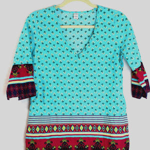 Old Navy Tunic Floral Paisley Top